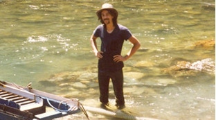 Bruce W. Harris 1985 on location N.F. Yuba River, CA.