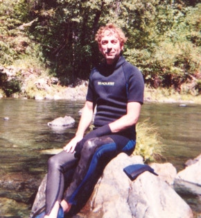 Author Bruce Harris 2005 - On location N.F. Yuba River, CA