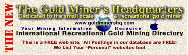 Buy, sale, rent, lease or partnership of gold mines, mining claims