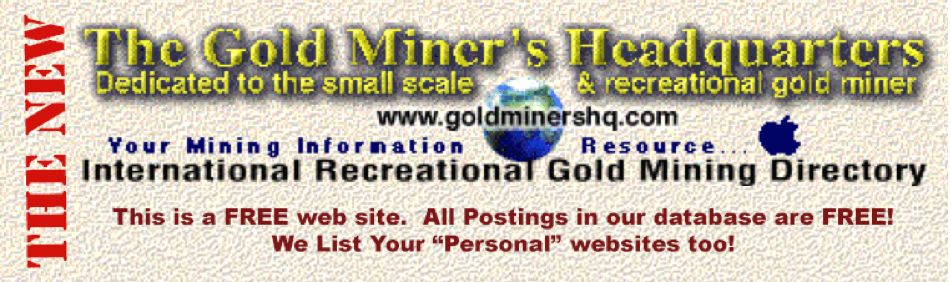 Buy, sale, rent, lease or partnership of gold mines, mining